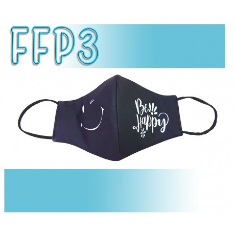 Mascarillas Adulto Reutilizables Triple Capa FFP3 - Pico de Pato Be Happy