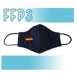 Mascarillas Reutilizables Triple Capa FFP3 - Pico de Pato Bandera España Marino