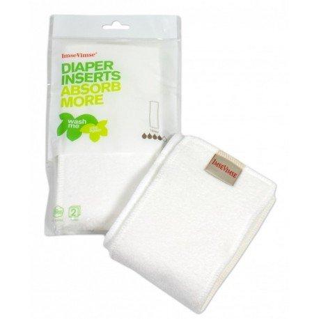 Pack de 2 absorbentes de algodón orgánico 100% 4 capas