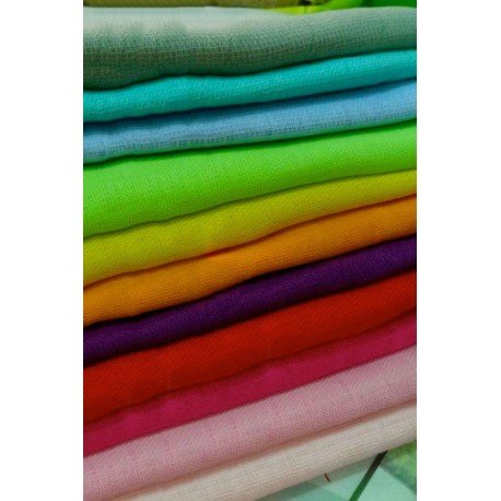 Pack de 12 Gasas 100% algodón 70x70. Colores surtidos