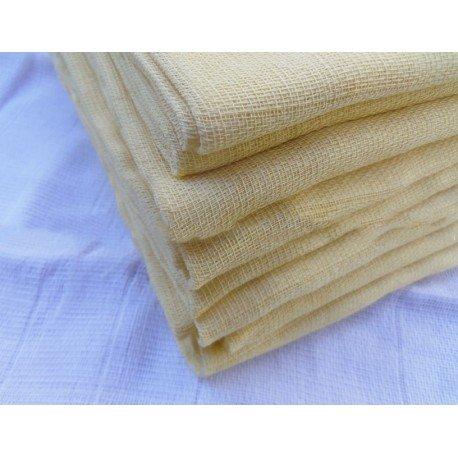 Gasa 100% algodón 70x70 cm - Amarillo