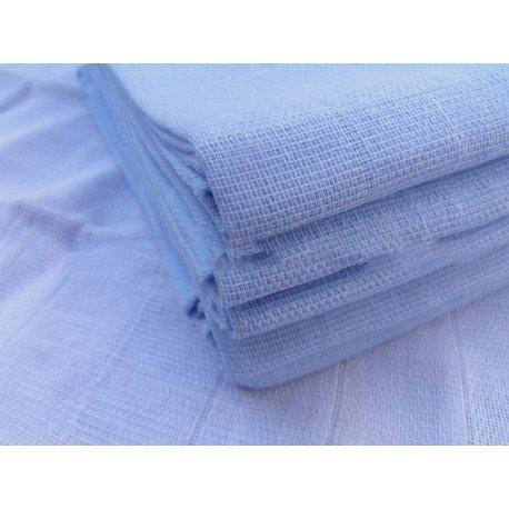 Gasa 100% algodón 70x70 cm - Azul