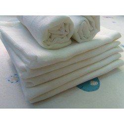 Gasa 100% algodón 70x70 cm - Blanco