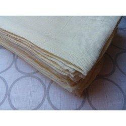 Gasa 100% algodón 70x70 cm - Crema