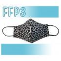 Mascarillas Reutilizables Triple Capa FFP3 - Pico de Pato Geométrica
