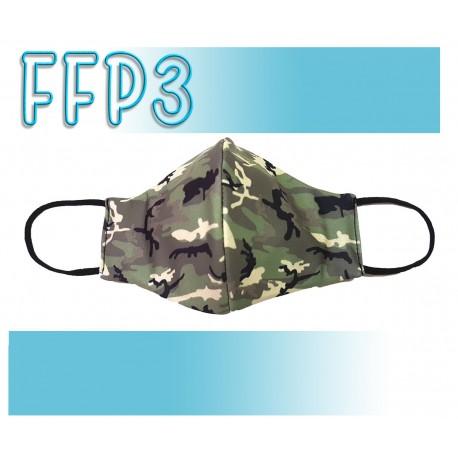 Mascarillas Reutilizables Triple Capa FFP3 - Pico de Pato Camuflaje