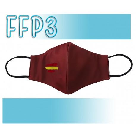 Mascarillas Reutilizables Triple Capa FFP3 - Pico de Pato Bandera Roja
