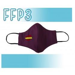 Mascarillas Reutilizables Triple Capa FFP3 - Pico de Pato Bandera Morada