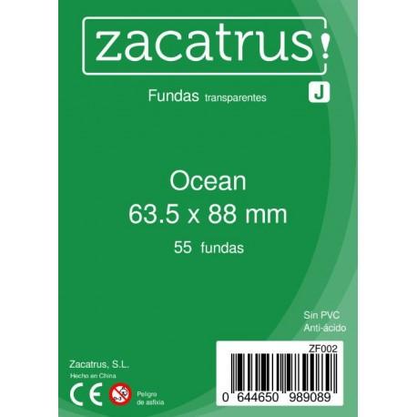 Fundas Ocean STANDARD (63,5 mm X 88 mm) - 55 uds. ZACATRUS