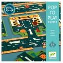 Pop to Play Carreteras Puzzle. DJECO