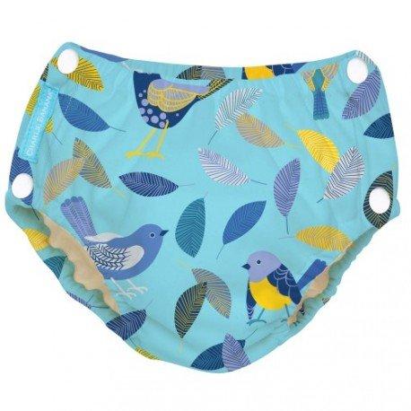 Pañal natación/aprendizaje con Snaps Twitter Birds Charlie Banana