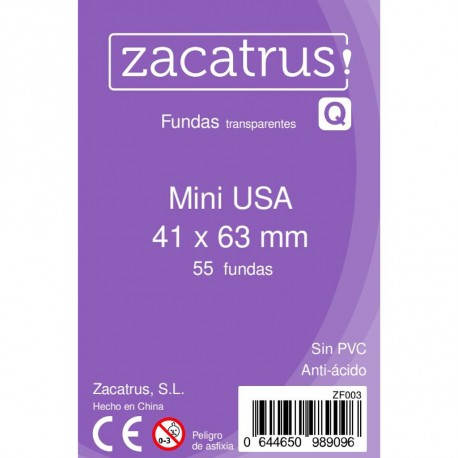 Fundas Mini USA STANDARD (41 mm x 63 mm) - 100 Uds. ZACATRUS
