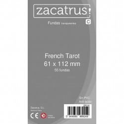 Fundas French TAROT STANDARD (61x 112mm) - 55 Uds. ZACATRUS