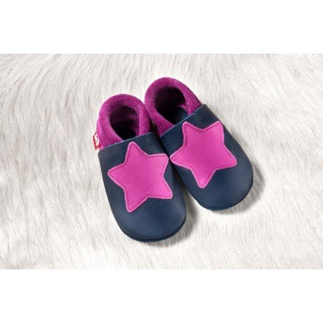 Zapatos Pololo Soft sin suela Small Star tobago / púrpura
