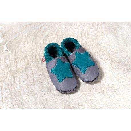 Zapatos Pololo Soft sin suela Small Star graphit-waikiki