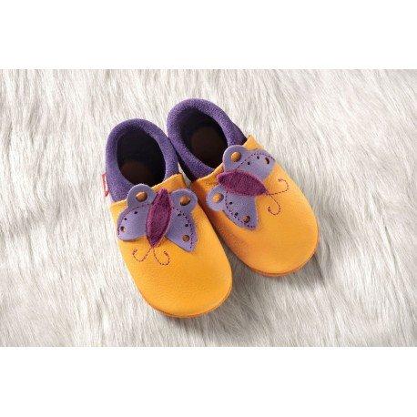 Zapatos Pololo Soft sin suela Butterfly mango-lilac