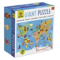 Puzzle Giant: Mapa de los animales