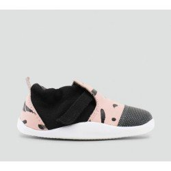 Zapato Bobux Step Up Play Xplorer City Rosa y Negro