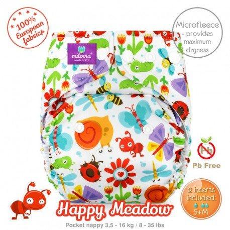 Pañal rellenable Milovia Happy Meadow Micropolar