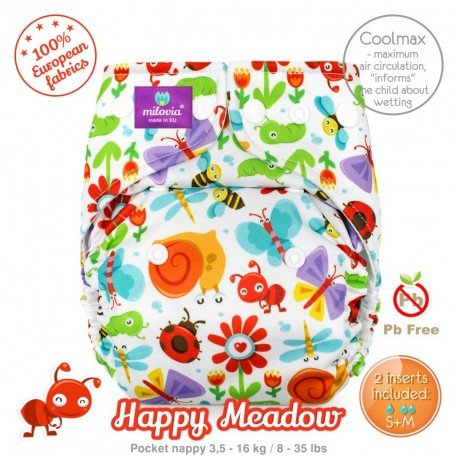 Pañal rellenable Milovia Happy Meadow Coolmax