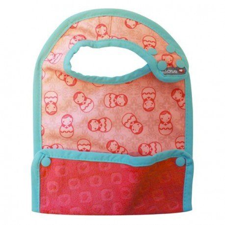 Babero talla L (+6 meses). Russian Doll. Pop-In