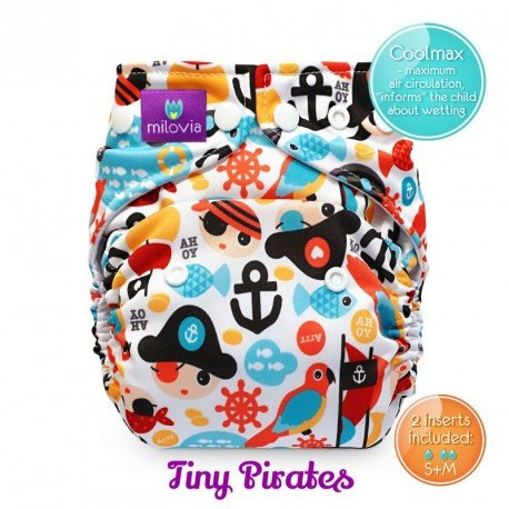 Pañal rellenable Milovia Tiny Pirates Coolmax