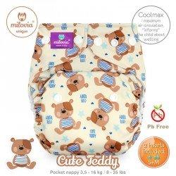 Pañal rellenable Milovia Cute Teddy Coolmax. EDICIÓN LIMITADA