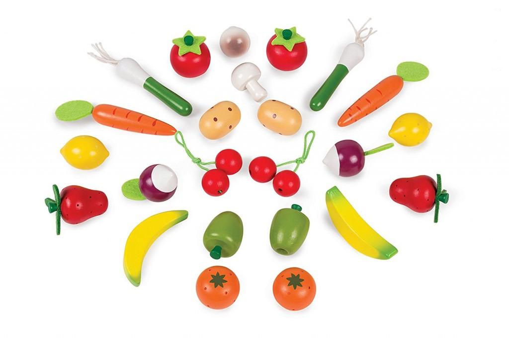 DK170017.2 Set 24 frutas y verduras de madera janod