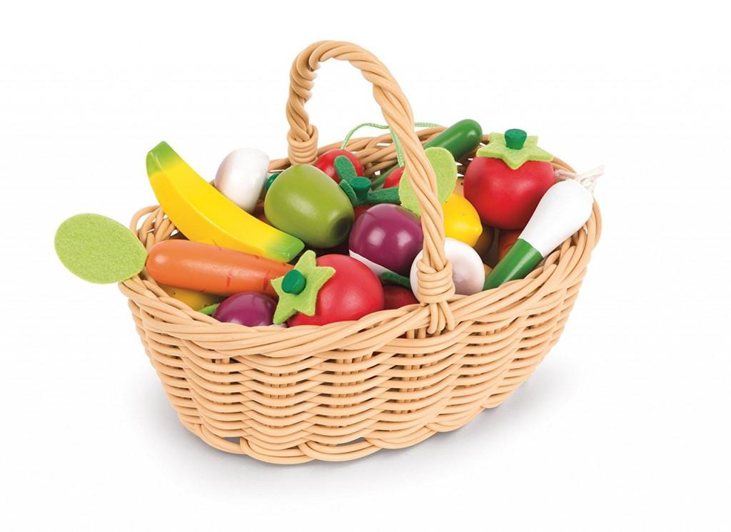 DK170017.3 Set 24 frutas y verduras de madera janod
