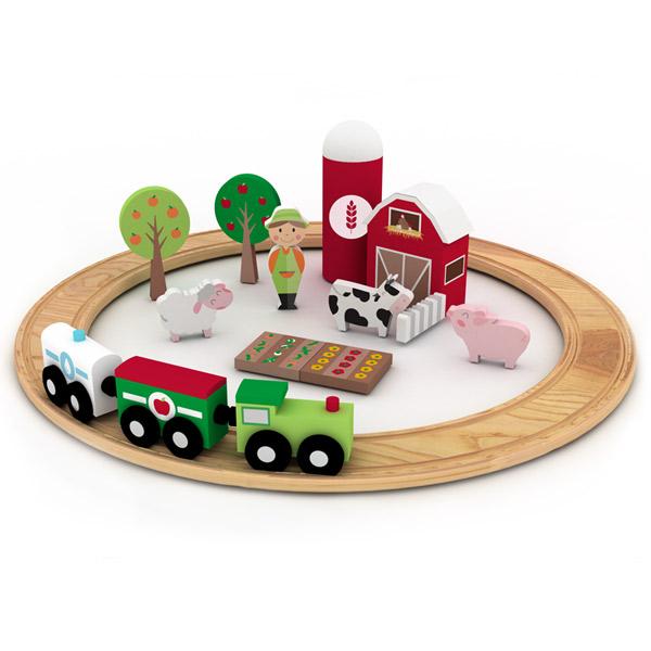 DK170022.1 Tren de madera granja eurekakids